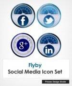 Flyby Social Media Badges